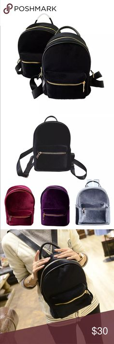 """New✨✨ Black Velvet Backpack 😍✨✨ New✨✨ Black Velvet Backpack 😍✨✨  Super cute and the new """"In Loo"""" Backpack 😍✨  🔸Brand New✨ 🔸PRICE IS FIRM- already listed at lowest price  🔸If you want to save please look into bundling  🔸In Stock 🔸No Trades 🔸Will ship within 24 hours Monday-Friday 🚫Please -NO- Offers on items priced $10 and under AND ON SALE ITEMS‼️  🚫Serious Inquiries Only❣️  🔹Bundle one or more items from my boutique to only pay 1 shipping fee✨ Bags Backpacks"""