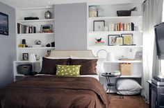 love the built in's layered with the bedside tables and bed - 6th Street Design School: Feature Friday: House of Earnest