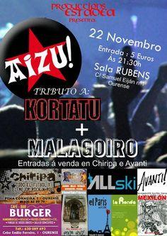 Aizu! + MalAgoiro @ Sala Ruben's - Ourense concierto concerto música tributo a Kortatu