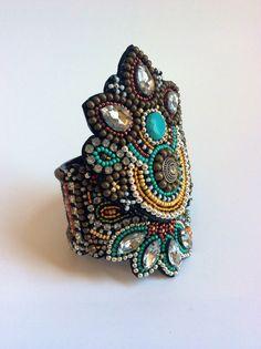 Bracciale di perline ricamo, ordine personalizzato, si prega di consentire 3-4 settimane per il completamento