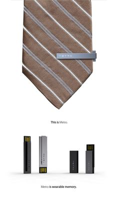 USB tie clip! classy