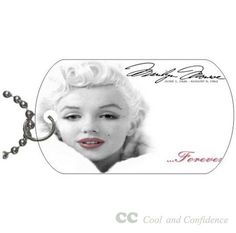 Custom Marilyn Monroe best fashion Pet Dog Tag pendant necklace Chain #DIY