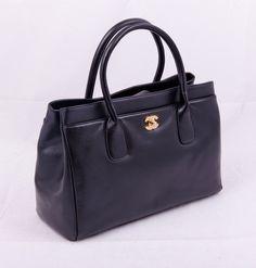 Сумка кожаная Chanel Shopping Tote Bag Gold