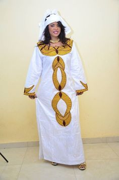 White bazin with gold and brown embroidery by NewAfricanDesigns ~Latest African fashion, Ankara, kitenge, African women dresses, African prints, African men's fashion, Nigerian style, Ghanaian fashion ~DKK