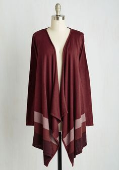 Casual Composure Cardigan. You strive to cultivate balance and poise in your everyday, and this burgundy cardigan contributes to your cause. #red #modcloth