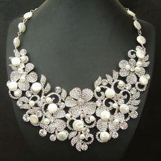 Znalezione obrazy dla zapytania diamond pearl necklace sets