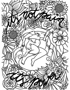 Coloring page for labor activity. Natural way to deal with pain during childbirth.