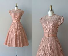 Claudia Young dress / 1950s lace