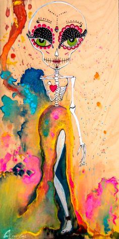 Fridaneska by Gabriela Von Gal - Skullspiration.com - skull designs, art, fashion and more
