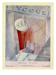 §§§ : Vogue Cover : December 1924  by Eduardo Garcia Benito