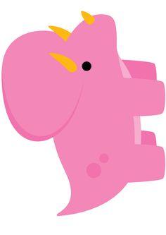 Dinosaurio, pink, formas para piñatas, formas para banner, circulares, etiquetas