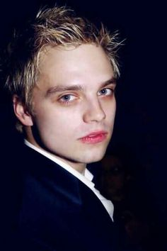 Sebastian Stan with blonde hair