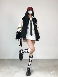 Fashion 101, Fashion Face, Teen Fashion Outfits, Grunge Outfits, Rocker Chic Outfit, Ulzzang Fashion, Street Style Looks, Cute Casual Outfits, Look Cool