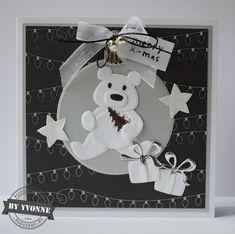 Kaarten & zo: 52 weeks to Christmas. Marianne Design Cards, 52 Weeks, Xmas, Christmas, Diy Cards, Panda, Stamp, How To Make, Animals