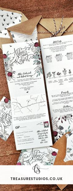 It's wonderfully simple and yet still speaks volumes about your big day and the kind of style you have a couple. This set is perfect for smaller budgets, since everything is included in one printed piece, including a tear-away RSVP postcard, that comes fully addressed for your guests to send back, and the invitations themselves fold up entirely to form an addressed envelope to each of your attendees. Simply fold, seal and post! Wedding Invitation Sets, Wedding Stationery, My Love Story, Folded Up, Business Design, Earthy, Rsvp, Envelope, Seal