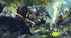 ArtStation - Battle of Forest, Ryota Murayama