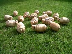 wooden sheeps