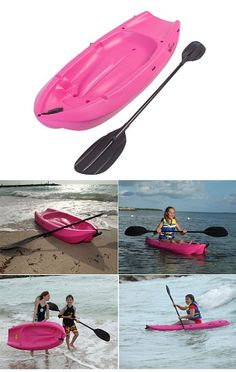 Sit-On-Top Kayaks are great for open water rides. Order your sit-on-top kayak today. Sit On Kayak, Canoe And Kayak, Kayaking With Kids, Kodiak Canvas, Angler Kayak, Inflatable Kayak, Best Sunscreens, Outdoor Life, Pink
