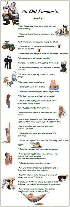An old farmer's advice - #agrismart #farming #farmers http://agrismart.co.uk/