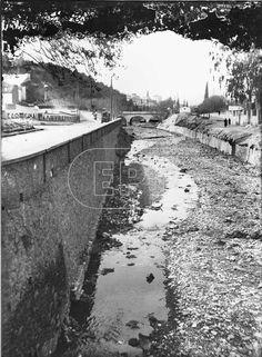 Τμημα του ποταμου Ιλισσου πρην σκεπαστει. 1905-6
