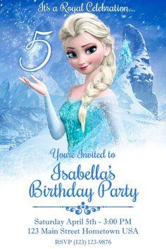 Custom Frozen Birthday Invitation by JMGCreativeDesign on Etsy, $7.00