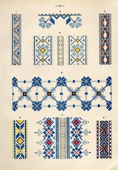 69 Super Ideas Embroidery For Beginners Letters Hands - sofia Cross Stitch Borders, Cross Stitch Flowers, Cross Stitch Designs, Cross Stitching, Cross Stitch Patterns, Russian Embroidery, Folk Embroidery, Cross Stitch Embroidery, Tribal Patterns