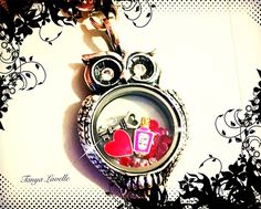 How cute is this Olivia Valentine's look?! PERFECT! #OwlJewelry #OwlLocket #ValentinesDayJewelry #OrigamiOwl #Love
