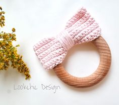 "54 To se mi líbí, 7 komentářů – Lookchic Design (@lookchic_design) na Instagramu: ""New pink ribbon teether...what do you think? soon in my eshop (link in bio)…"""