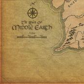 Middle Earth Map - walkingraven1 - Spoonflower
