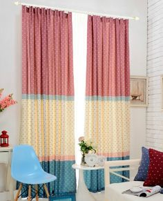 Bright color curtains for kid's room