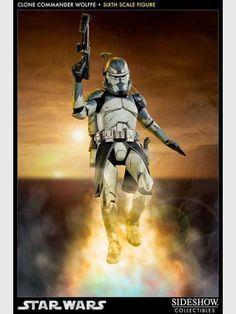 Star Wars -  Clone Commander Wolffe Sixth Scale Figur 30 cm