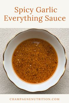 Make this sauce in minutes and put it on absolutely everything! From stir fry to tofu or even salad dressing, this is a simple, versatile and healthy sauce. #makeyourowndressing #healthysauce #saucerecipe #spicysauce Best Tofu Recipes, Onion Recipes, Sauce Recipes, Healthy Recipes, Onion Sauce, Garlic Sauce, Healthy Sauces, Vegan Sauces, Healthy Comfort Food