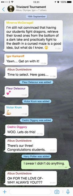 The wizarding Whatsapp chats - CosmopolitanUK