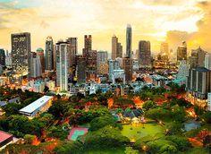 Puzzle Trefl Puesta de Sol en Bangkok de 3000 Piezas