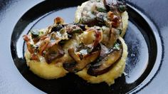 Roman gnocchi with mushrooms, pancetta and cheese