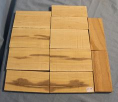 11 Pieces Craft Wood Knife Scales Ash Oak Thin Lumber by woodhut, $17.50