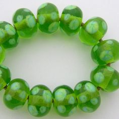 EDJ - ENCHANTED POND  Glass Lampwork Beads SRA