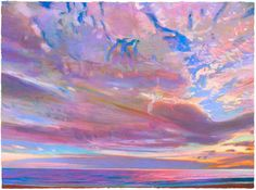 """""""Herring Cove Evening, Provincetown"""" by Charles Basham, 2009, Pastel on paper"""