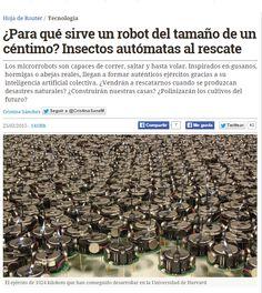 ¿Para qué sirve un robot del tamaño de un céntimo? / @hojaderouter | #sci #tech #inn