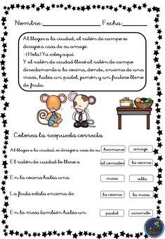 Fichas para trabajar la comprensión lectora - Imagenes Educativas Grade 1, Teacher, Activities, How To Plan, Education, Reading, Jenni, Leo, Spanish