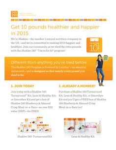 Join Shaklee to make our world 40,000 lbs. healthier between 1/1-3/31/15. |   Fad diets promising fast results will ultimately fail you. For weight loss designed to last you need the right food, the right tools & the right rewards to help you achieve a leaner, healthier future.  Shaklee 180 is a revolutionary program designed to help you burn fat & keep muscle, support & rewards that keep you motivated. Shaklee 180 helps you lose the weight and learn to keep it off.