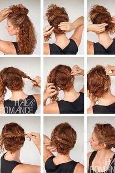 Are you in search of hairstyles for curly hair women? We are here to help with a collection of hairstyles for girls with curly hair! Curly Hair Dos, Curly Hair Styles, Natural Hair Styles, Easy Curly Updo, Curly Updos For Medium Hair, Wedding Hairstyles For Curly Hair, Naturally Curly Hairstyles, Hair Romance Curly, Curly Bun Hairstyles