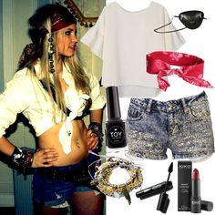 Pirata A Lo Jack Sparrow  El pirata más irreverente de los Siete Mares y con más vidas que un gato nos inspiró para recrear este disfraz, ¿qué opinan? Lo único que nos falta es el Perla Negra y ¡ahoy!