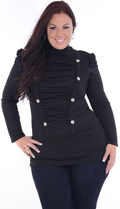 Overdo It (Plus/Black)-Great Glam is the web's top plus size online store clothing website for 1X 2X and 3X clothes and apparel for ladies, women and juniors