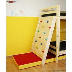 Kinderbett Hochbett Etagenbett Doppelbett mit Kletterwand + 2 Lattenroste, NEU | eBay