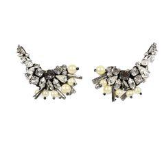Fan sequins earrings