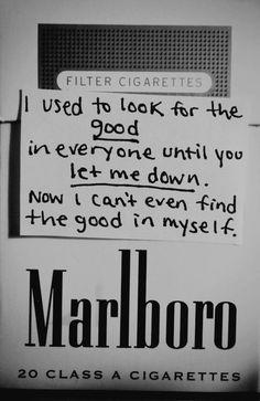 Until everyone let me down....