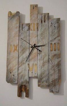 wall clock design 718746421767589606 - Wooden wall clock modern clock reclaimed pallet rustic wood natural design – Source by Diy Craft Projects, Wooden Pallet Projects, Easy Woodworking Projects, Easy Diy Crafts, Custom Woodworking, Pallet Crafts, Pallet Clock, Wood Projects For Beginners, Money Making Wood Projects