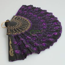 New Fashion Elegant Attractive Noble Black Lace With Purple Sequins Folding Fan Purple Love, Purple Hues, All Things Purple, Shades Of Purple, Pink And Gold, Antique Fans, Vintage Fans, Pretty Hands, Beautiful Hands