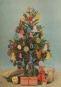 {copyright 1956 - new ideas for christmas - fawcett publications inc. Christmas Tree Sale, Christmas Love, Christmas Pictures, Christmas Gifts, Christmas Decorations, Christmas Things, Vintage Christmas Cards, Vintage Holiday, Vintage Cards